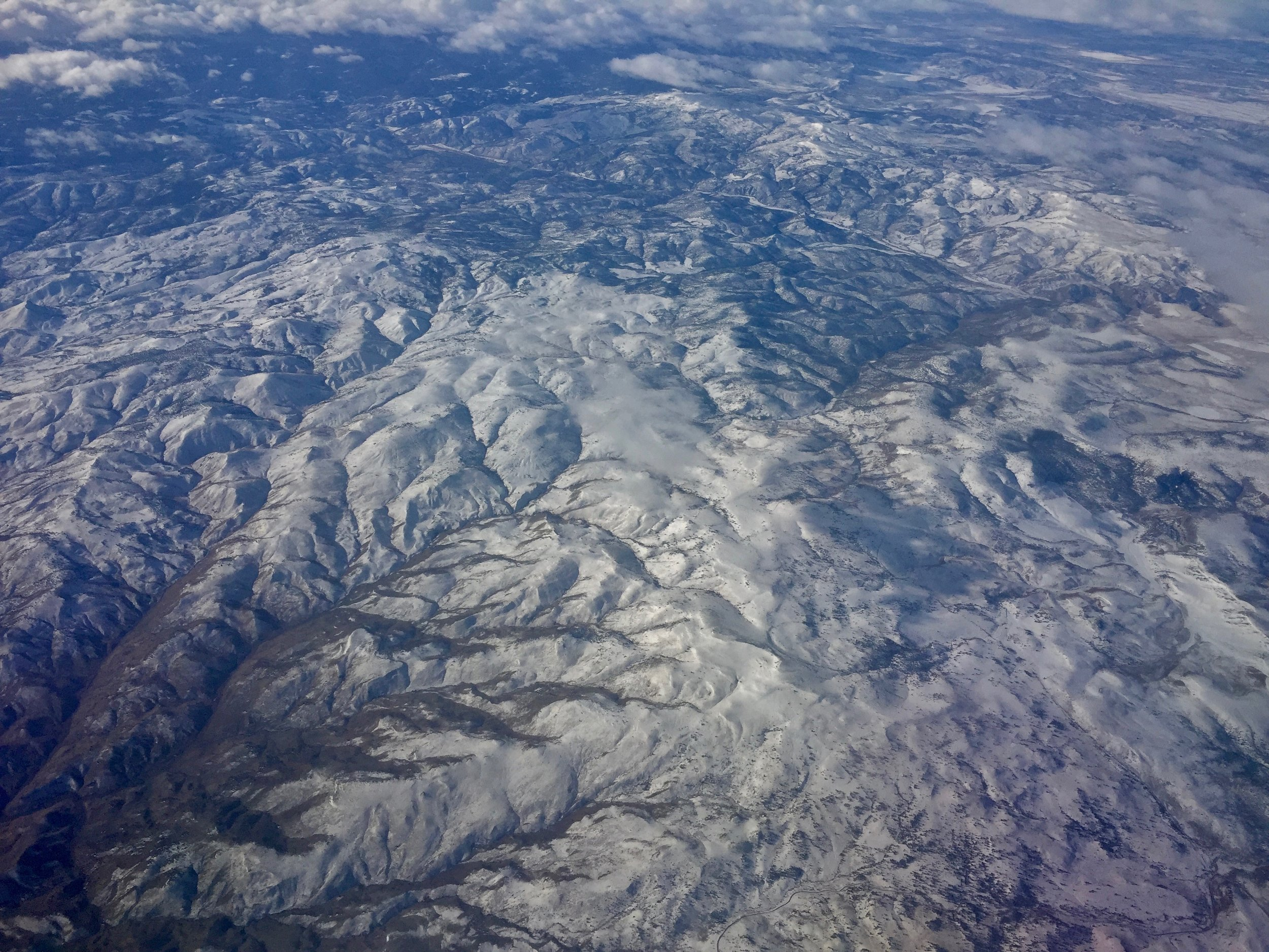 My airplane's-eye view enroute from Portland, Oregon to Boise, Idaho this week.