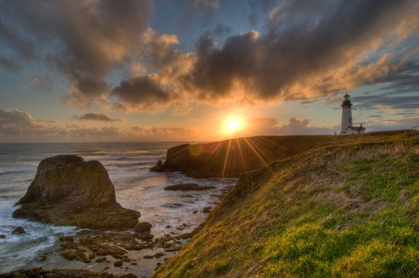 Yaquina Head Lighthouse. Photo by Chad Case, Chad Case Photography & Video, April 2008