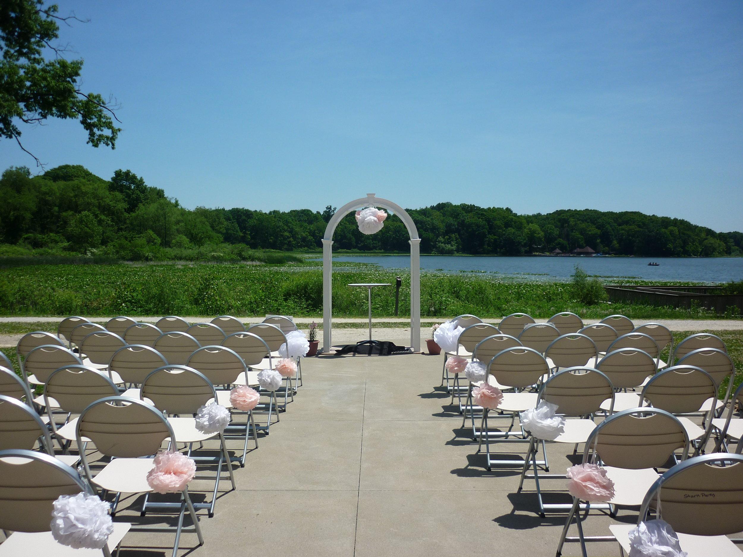 Lakeside Wedding Ceremony Setup