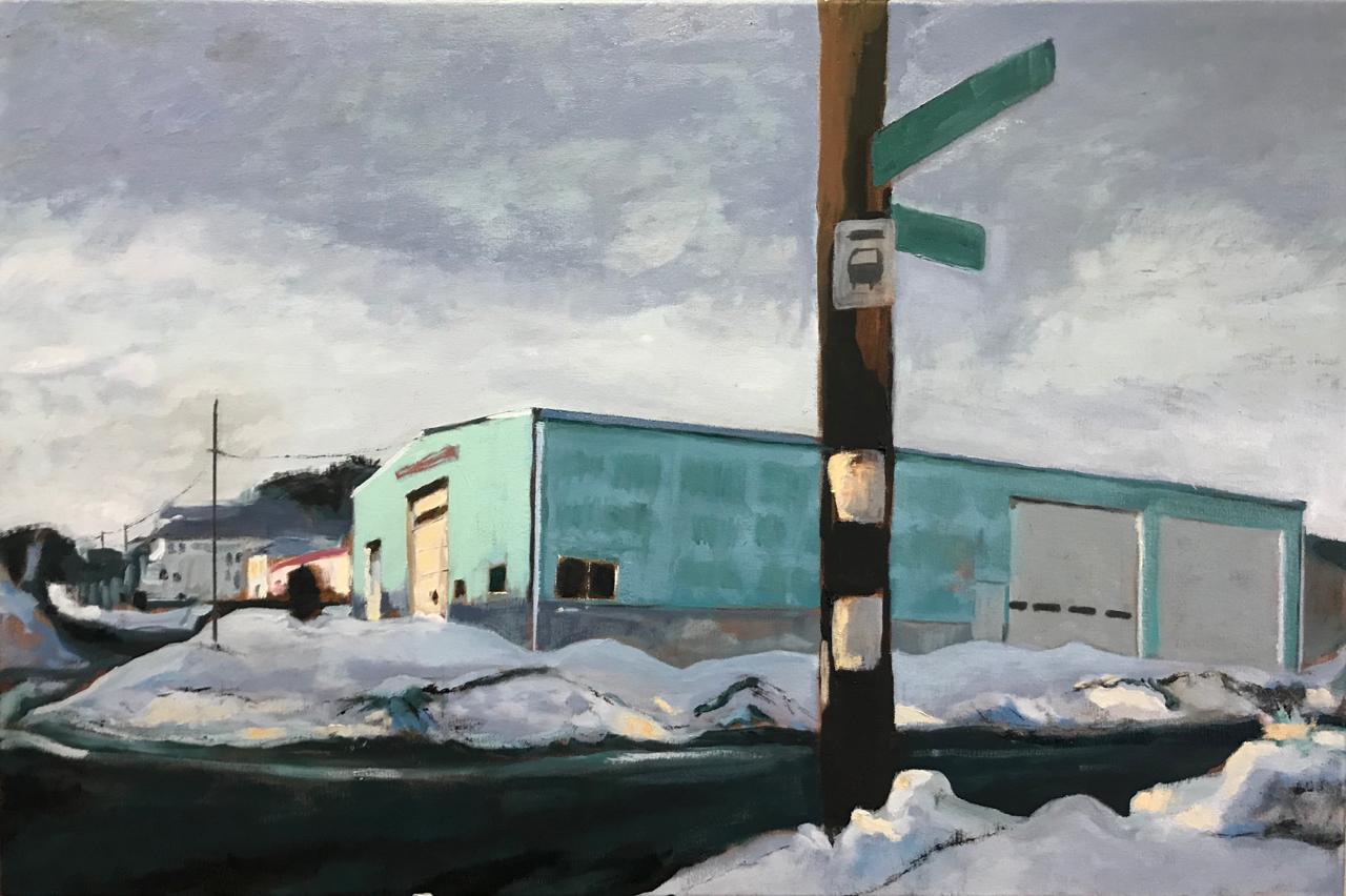 "Oil on Canvas  24"" X 36"""