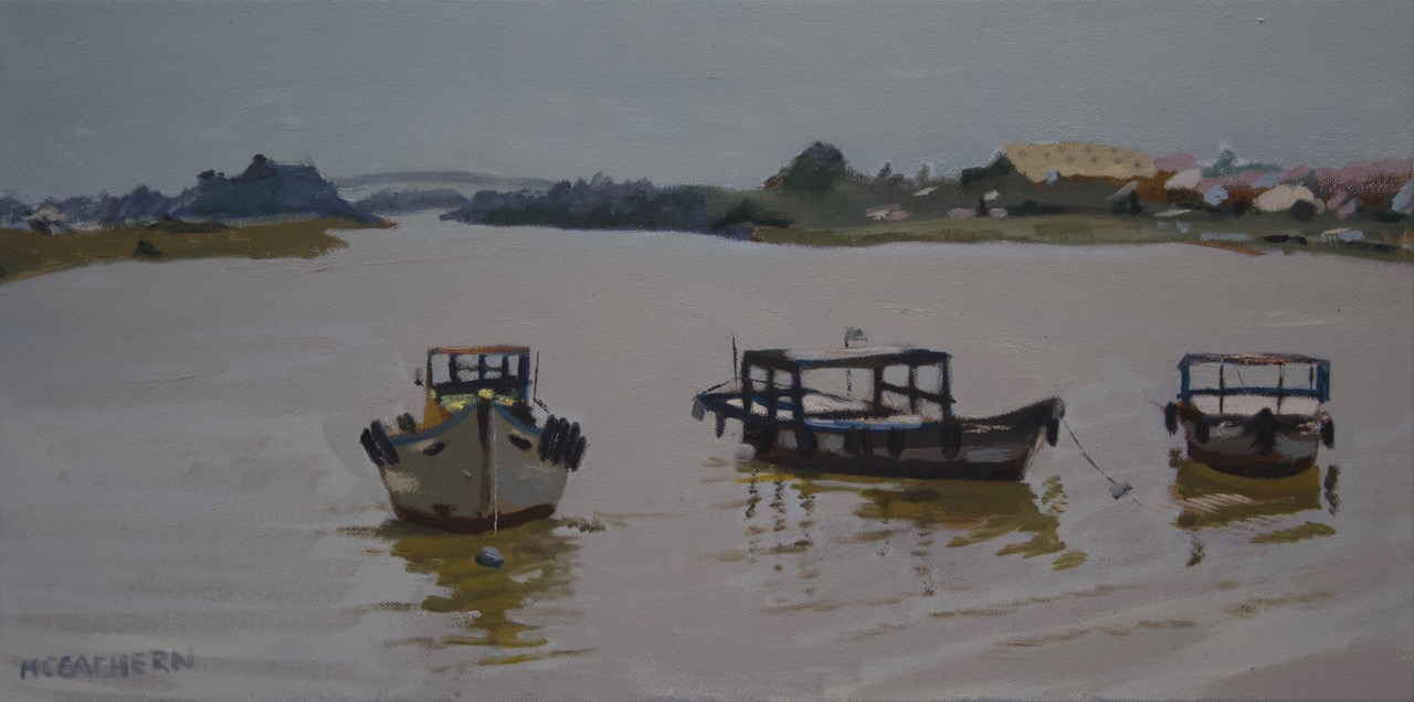 "oil on canvas  12"" X 24""   View VIETNAM collection >>"