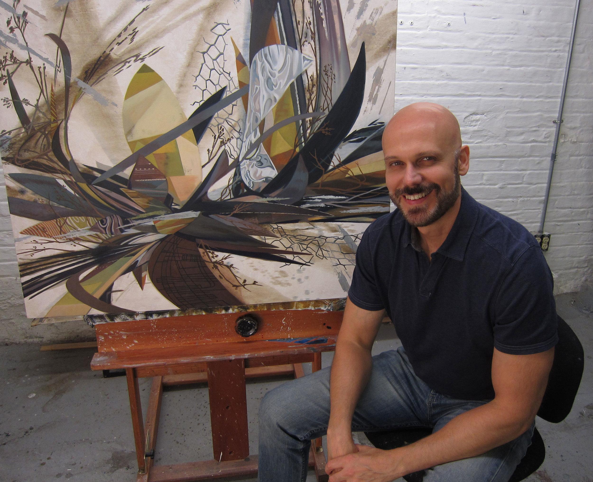 Robert in his studio