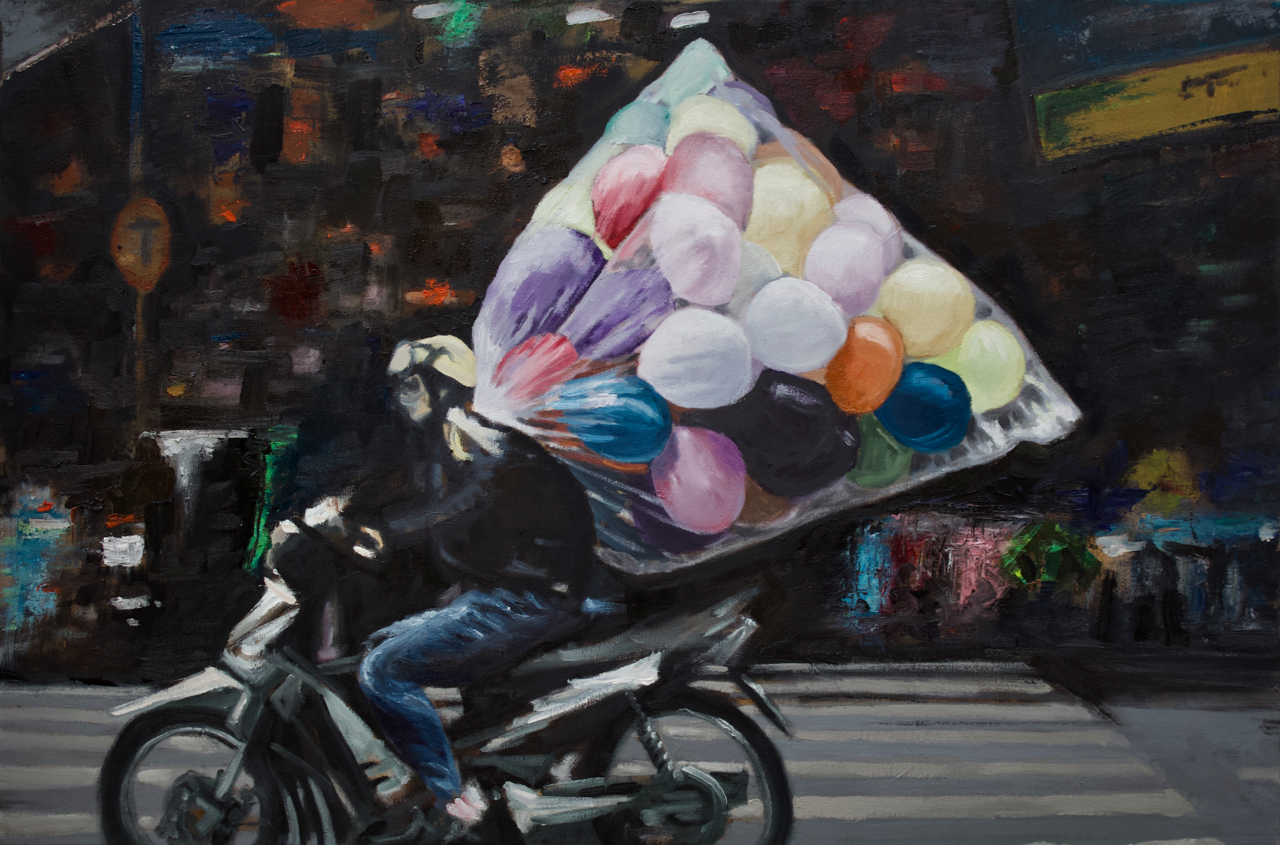 """Oil on Canvas, Framed  24"""" X 36""""   View VIETNAM collection >>"""