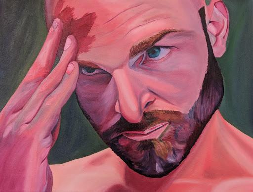 Untitled (Blood face self-portrait)