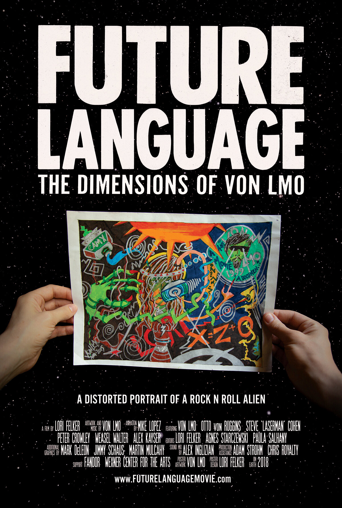 Future Language: The Dimensions of VON LMO poster.