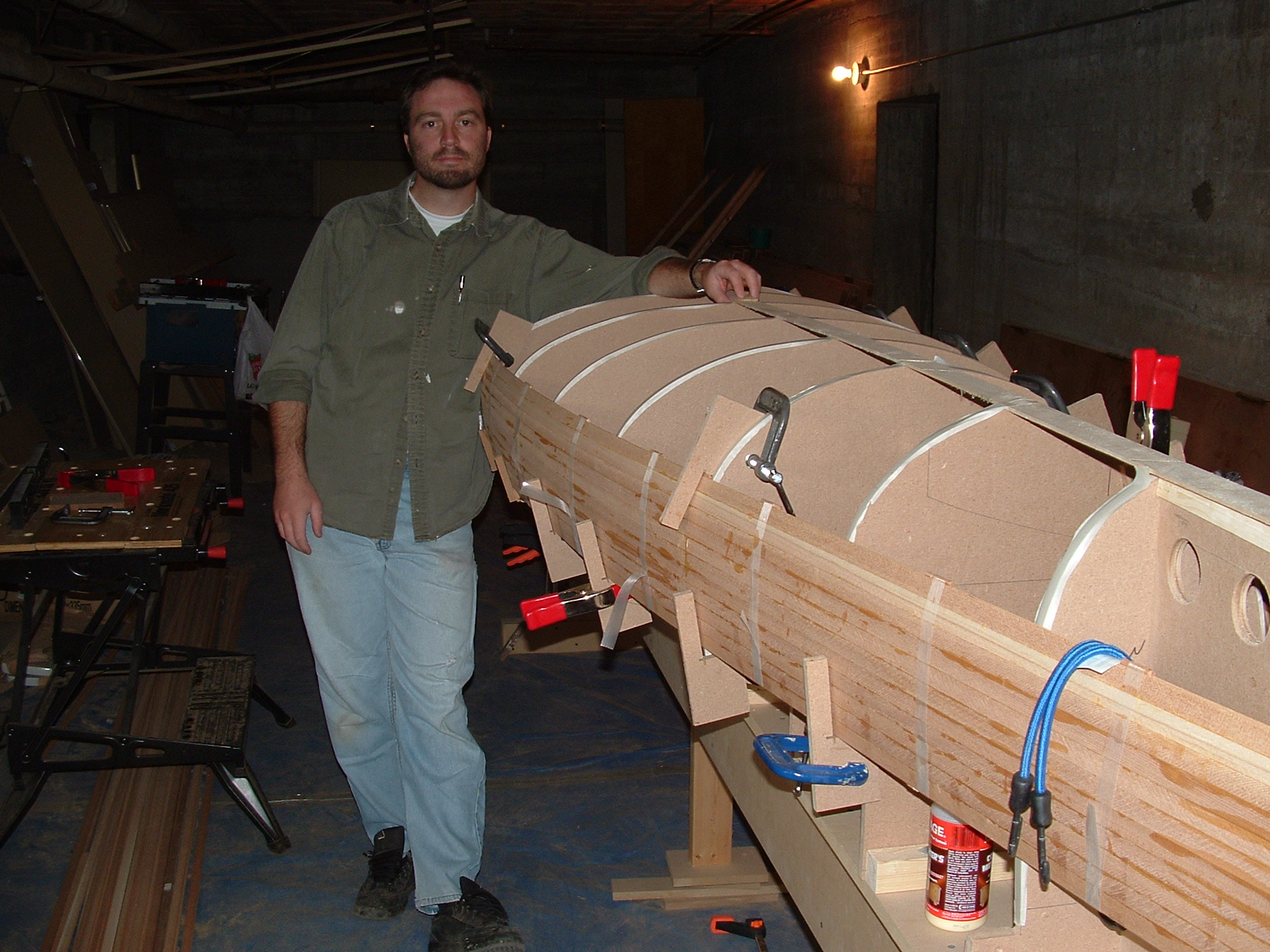 Canoe building selfie