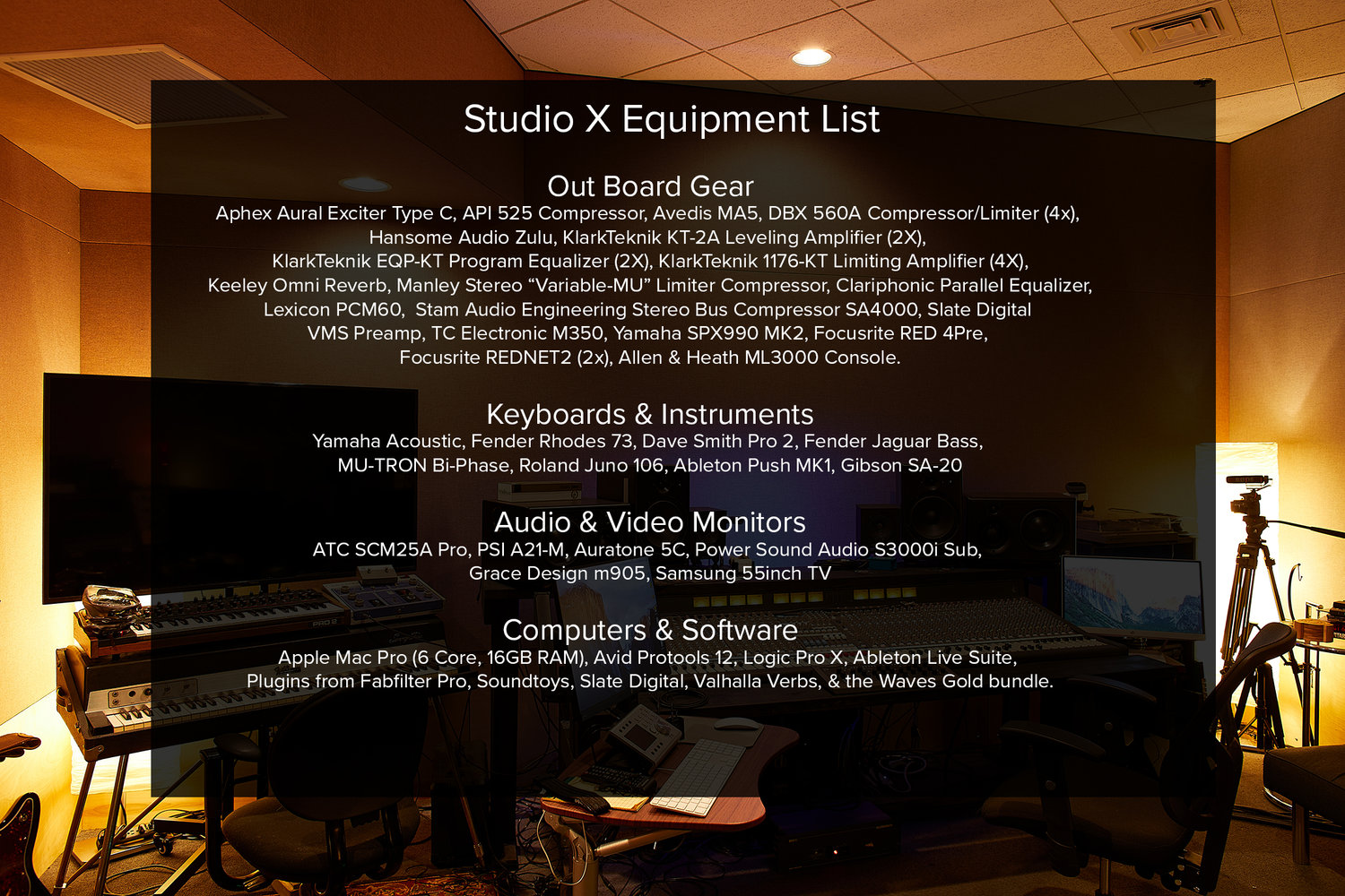 Studio Services — In Your Ear Studios