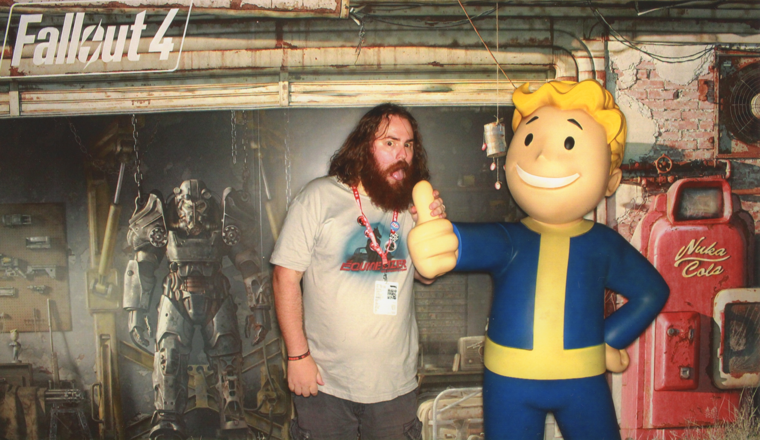 On the other hand I'm not sure what the girl taking the picture told Matt, but I'm starting to think he's excited about Fallout 4.