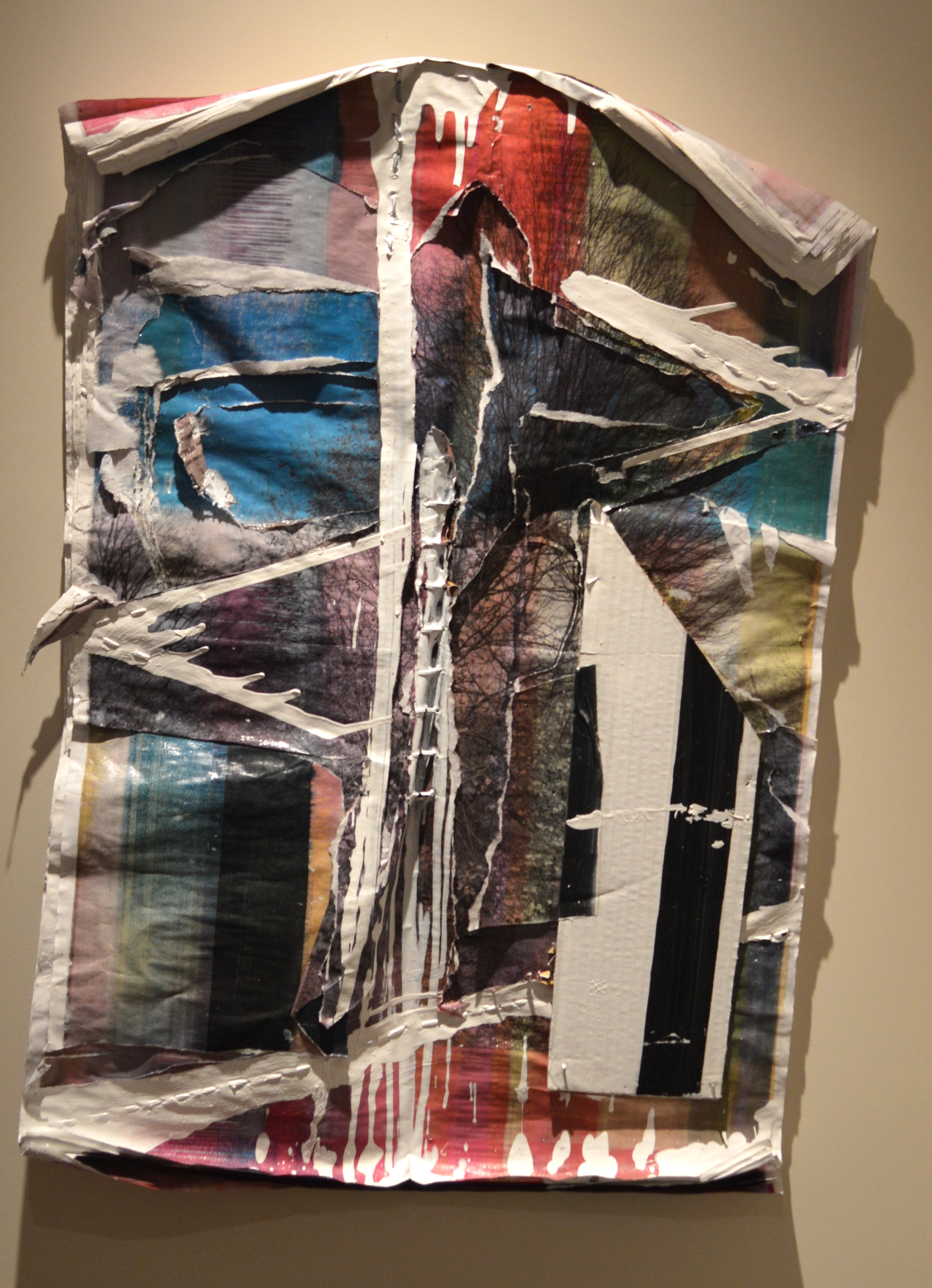 Artwork by David Goodman, inspired by the thick piles of newspapers mounted all over Berlin, Germany