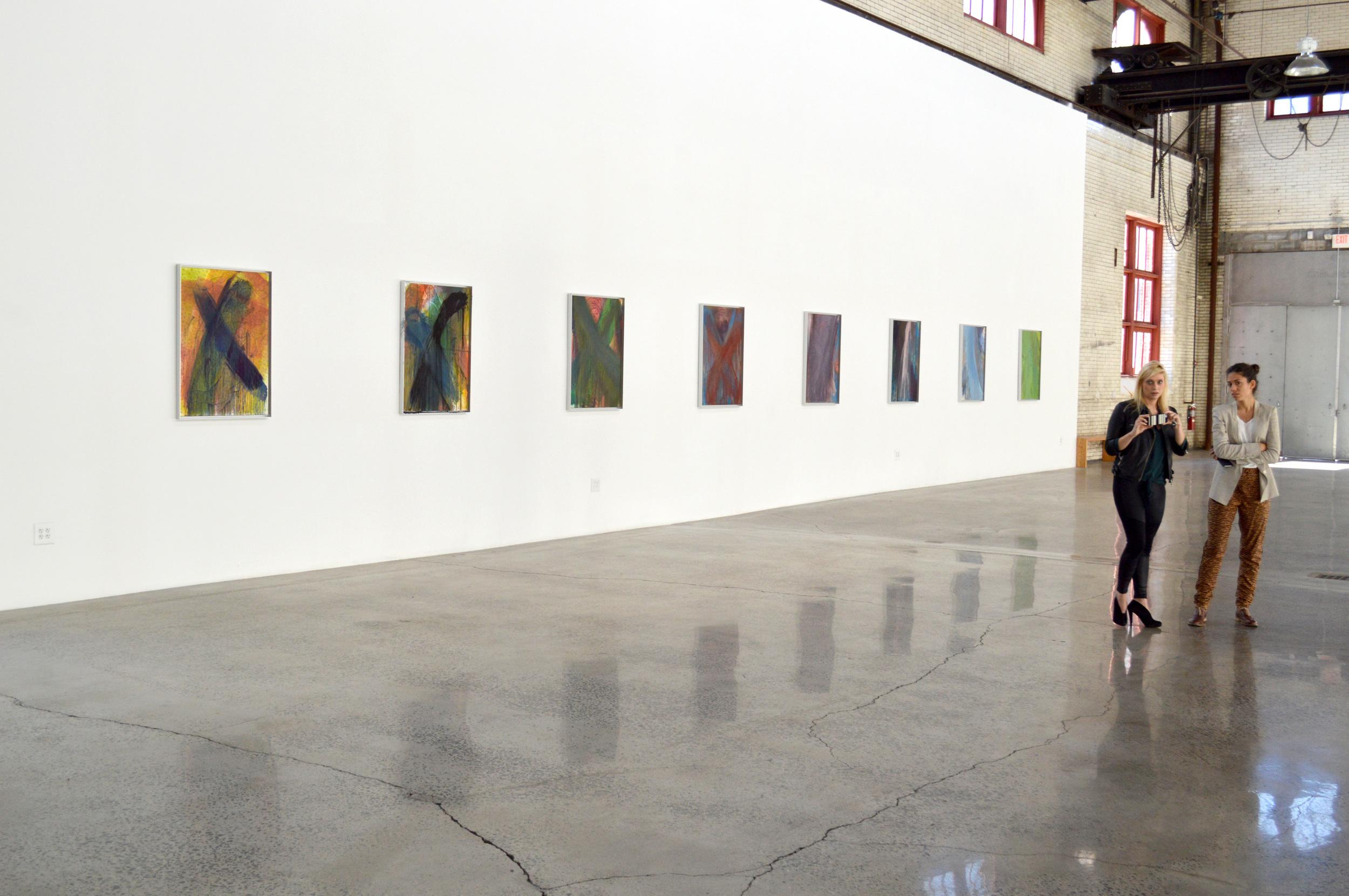 Installation shot: Arnulf Rainer, presented by the Ayn Foundation