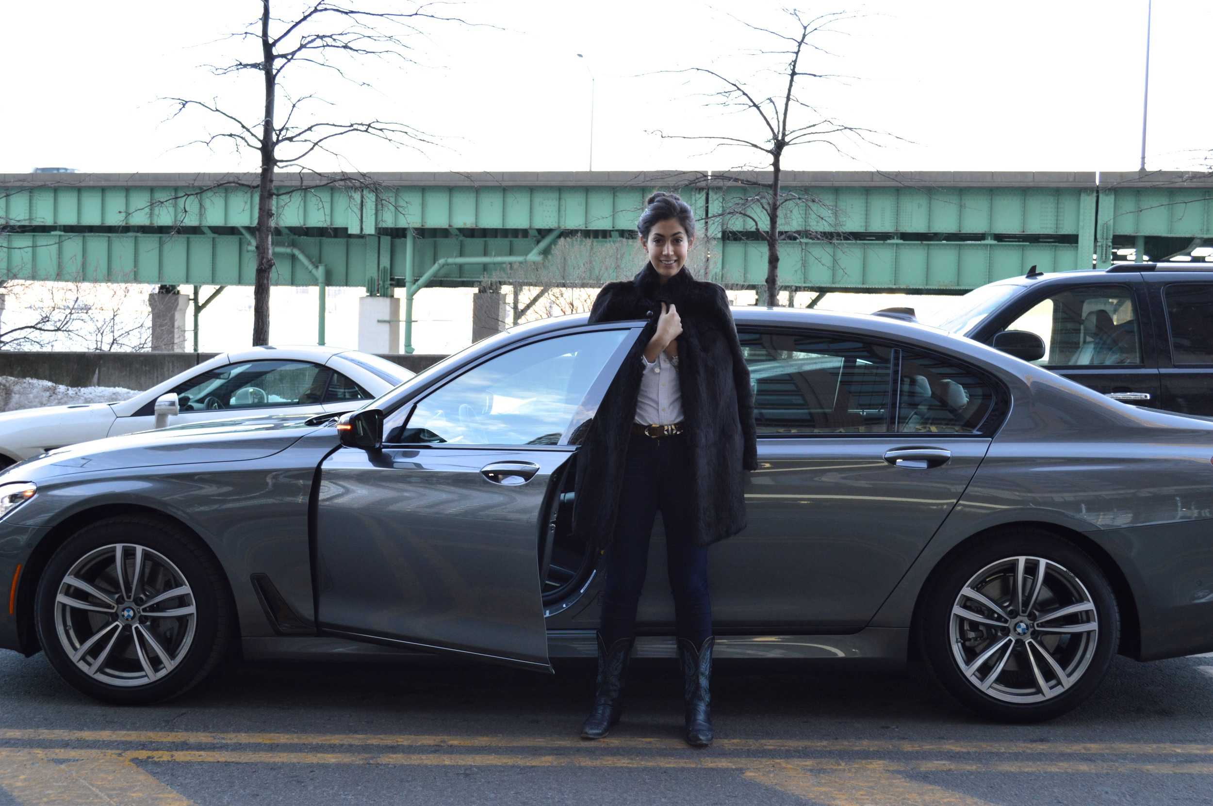 Chefanie with the BMW 7 Series