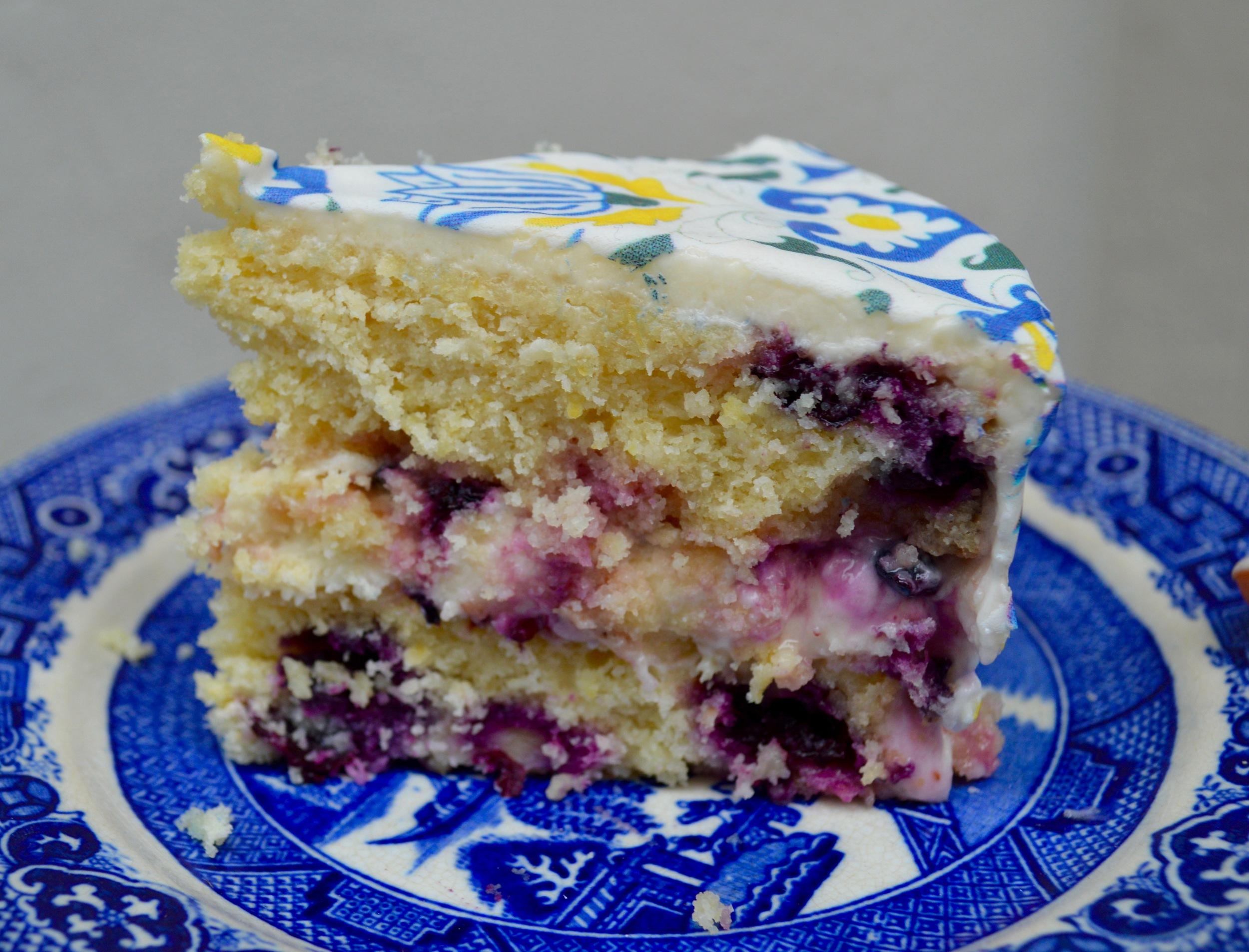 Lemony Blueberry Cake  with  Amsterdam   #ChefanieSheets