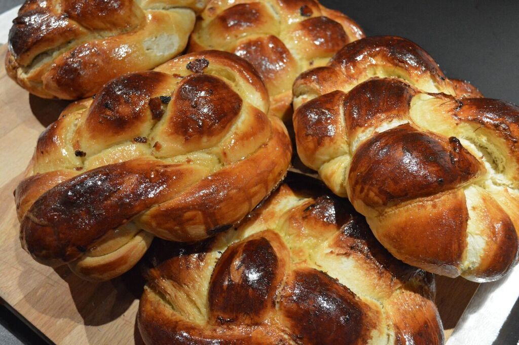 Challah baked with  Urbani's Truffle Honey