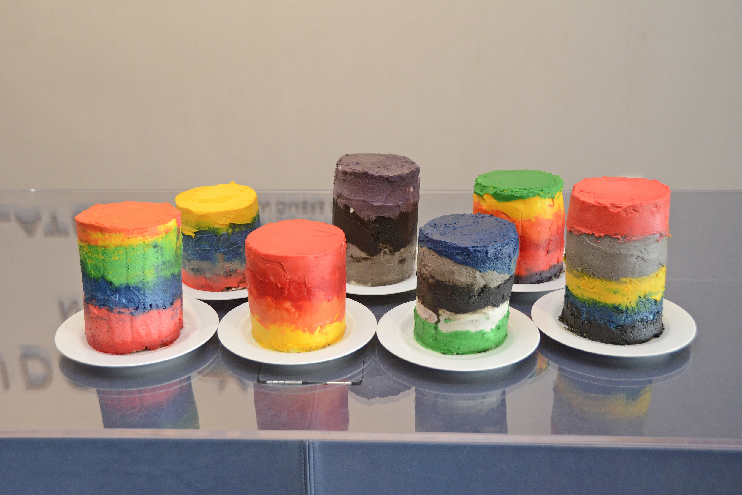 Seven Magic Mountains Cake. Photo credit Lukas Greyson