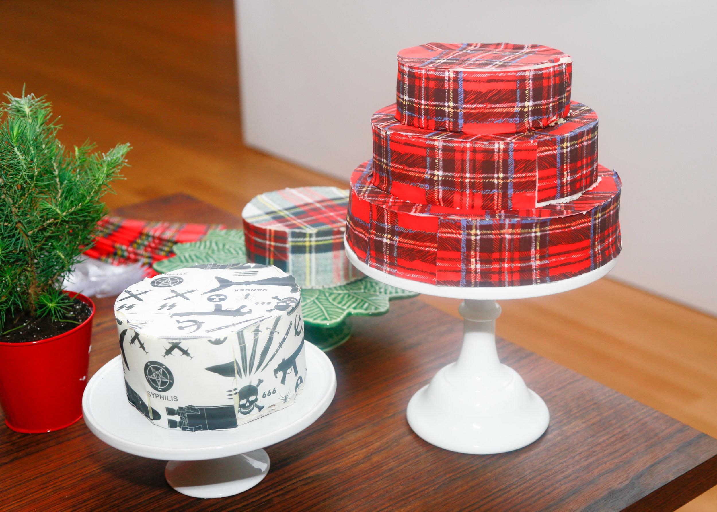 Tartan cakes with  Chefanie Sheets
