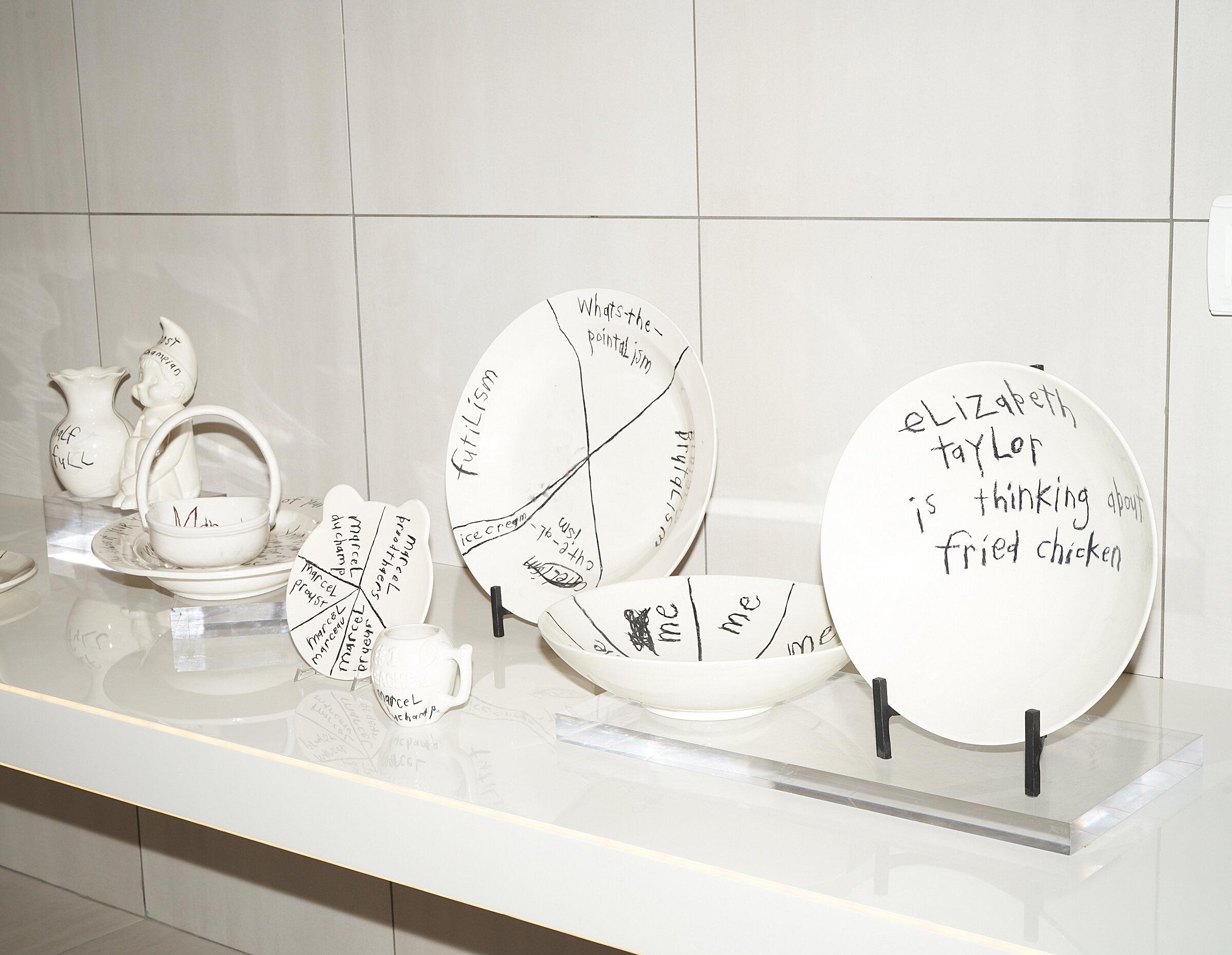 Some ceramics from the exhibit.