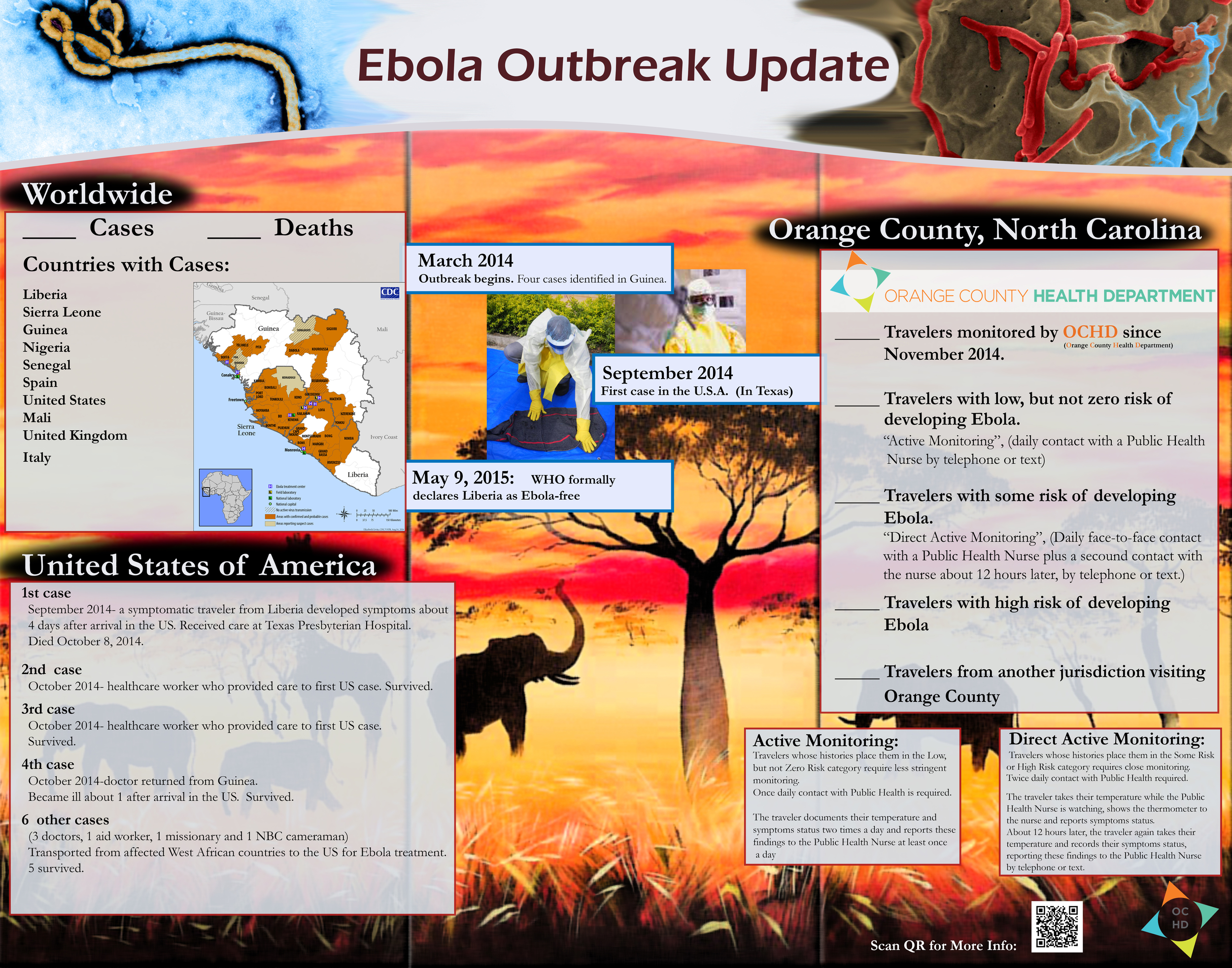 Ebola Tracking poster