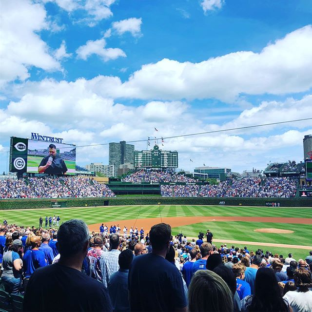 Happy #memorialdayweekend!! Celebrating by attending a cubs game with my beautiful wife @stacylflores. #wrigleyfield #americana #usa #neverforget