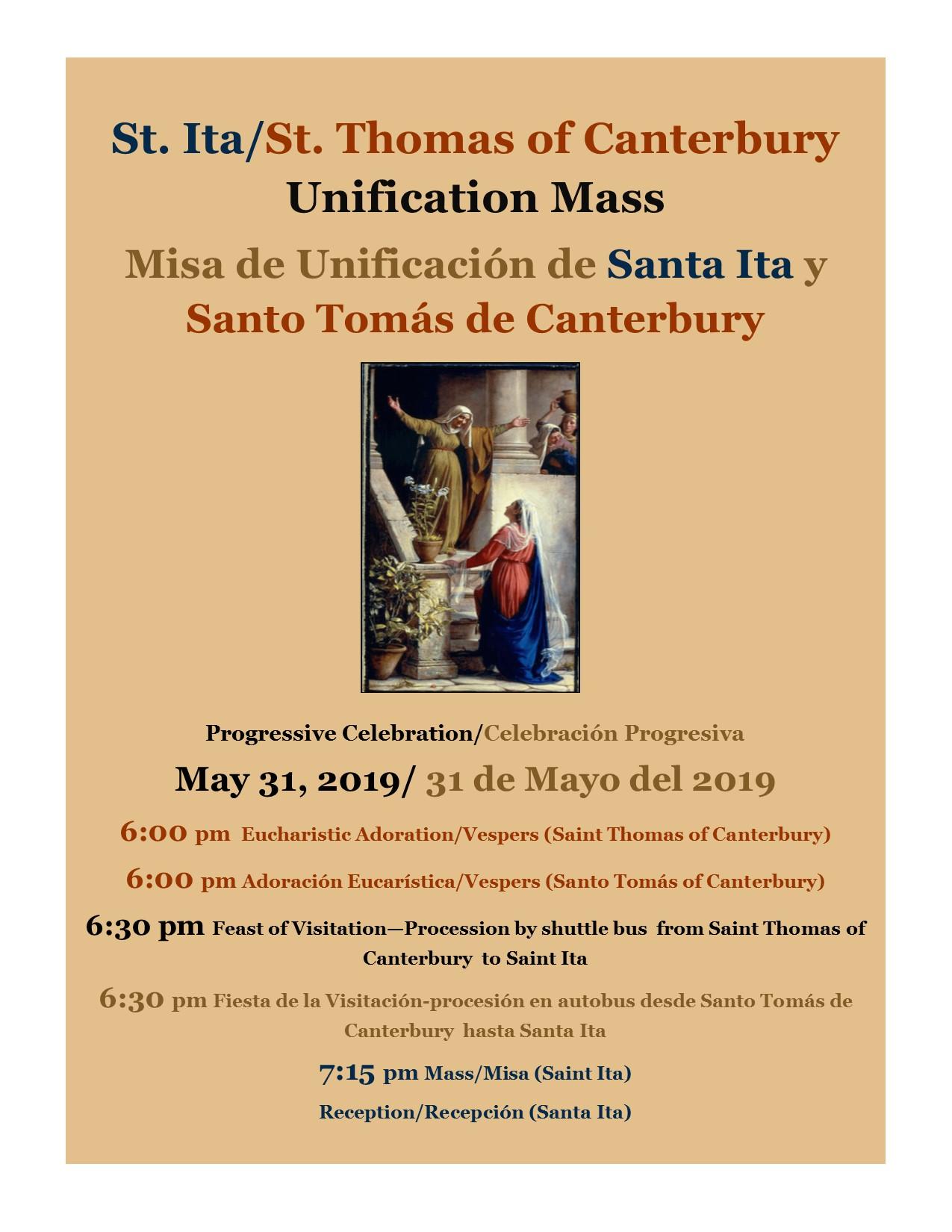 Upcoming Events — Saint Ita Catholic Church