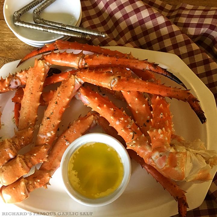 Richard's Famous Alaskan King Crab with Lemon Garlic Butter