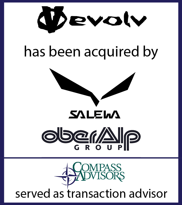Evolv Sports has been acquired by Salewa North America and Oberalp Group. Outdoor Industry Business Brokerage Sell my business m&a
