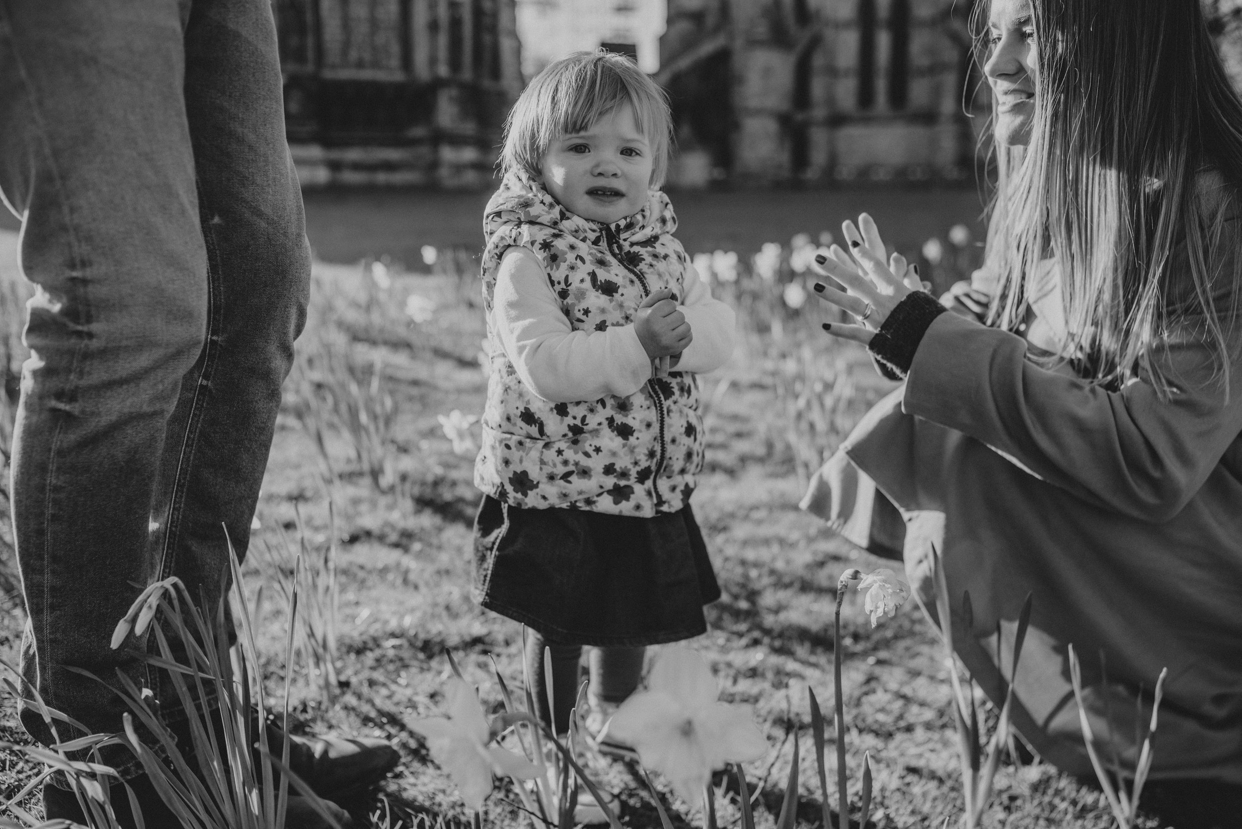 black and white family photography
