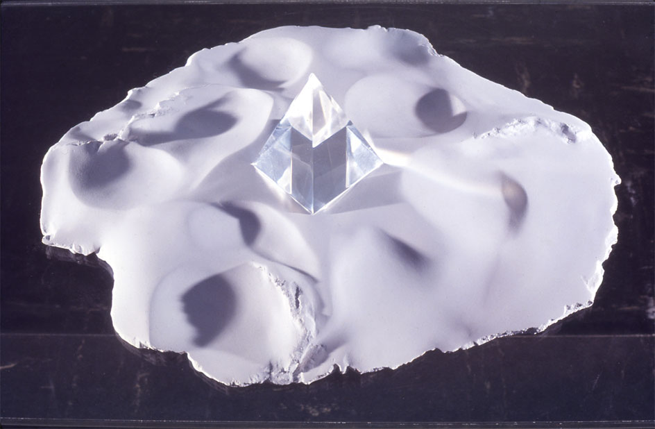 """Sands of Yesteryear, 1971  Plaster and Resin  12""""x12""""x15"""""""