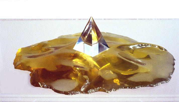 "Yellow Desert, 1971  Acrylic and Resin  15""x12'x5"""