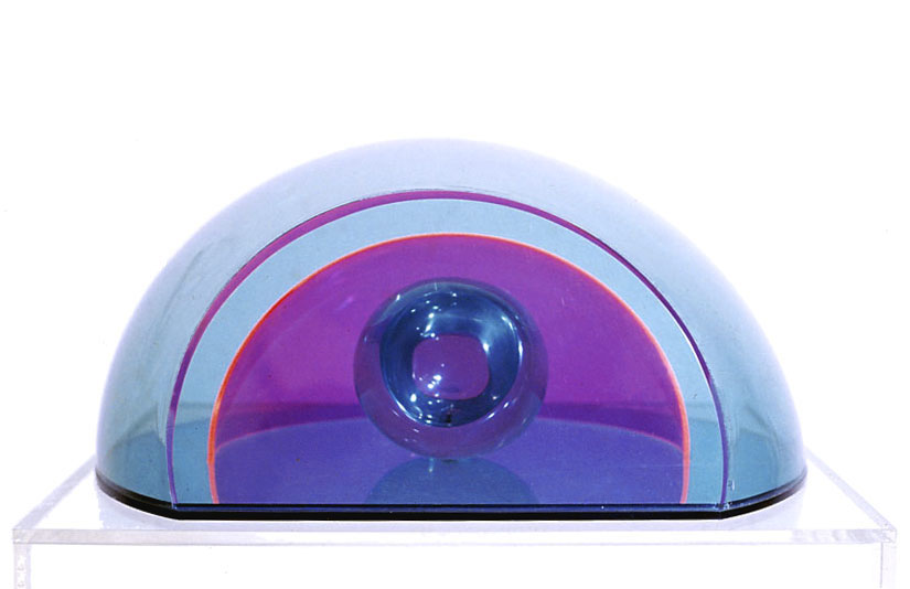 """Hollywood Bowl,1967  Resin, Acrylic with Vacuum Formed  12 5/16""""x14 3/4""""x6 1/4"""""""