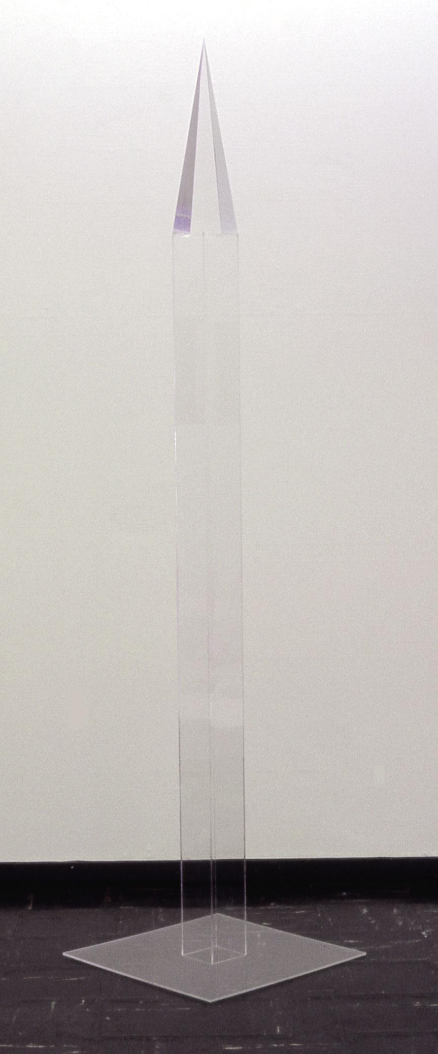 "Obelisk, 1970  Acrylic and Resin  3""x3""x6'"