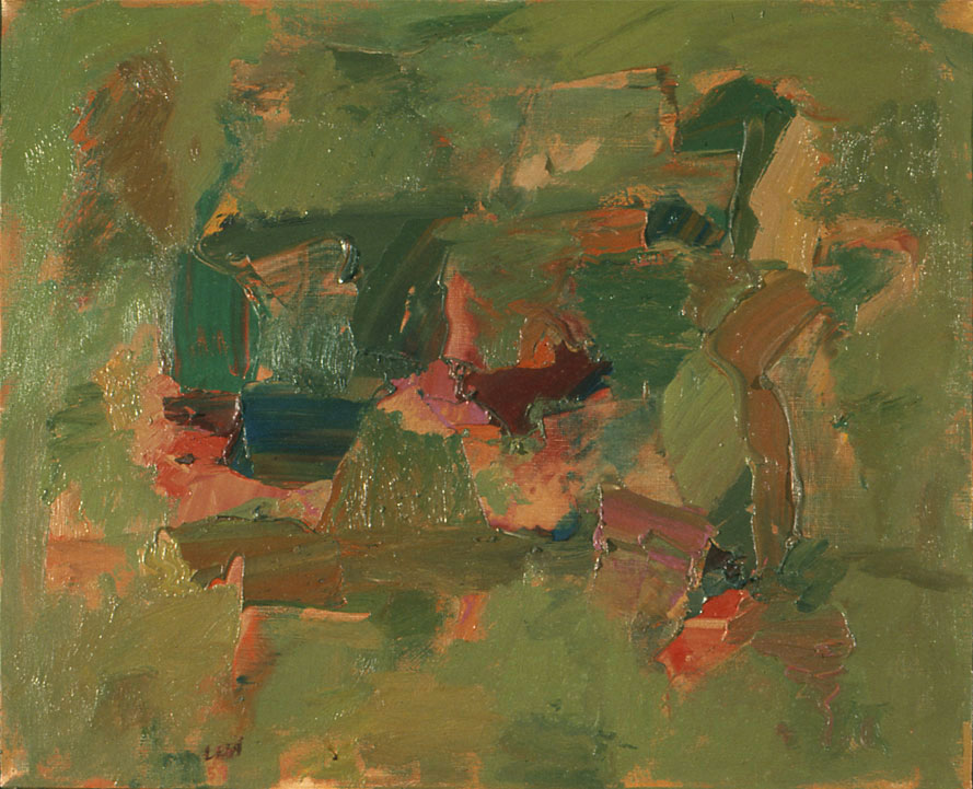 "Greener, 1958  Oil on Canvas  18""x 22"""