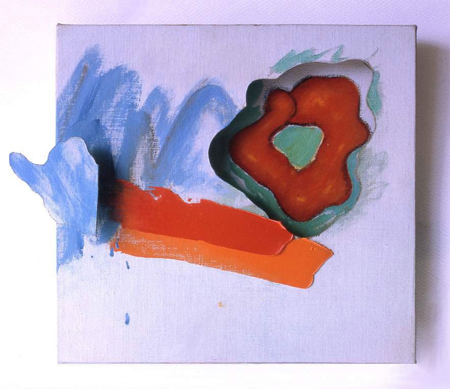 """Three Dimensional Abstract Expressionism, 1964  Acrylic paint, Charcoal on Canvas onMasonite  13"""" x 101/2"""" x 3"""""""