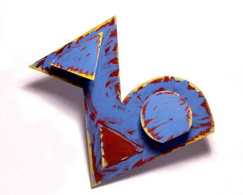 Z, 1992  Acrylic Paint on Plywood  4'x6'x4'