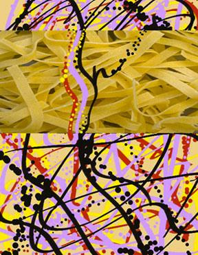 N/Noodles/Pollack, 1996  Digital Painting