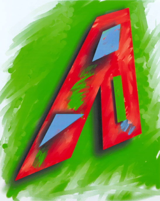 A/Abstract, 1994  Digital Painting
