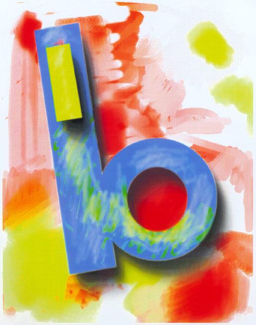 b, Abstract, 1993  Digital Painting
