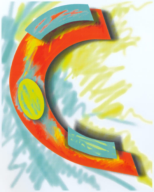C, Abstract, 1993  Digital Painting