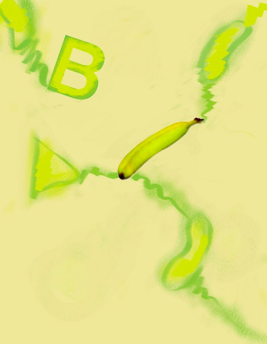 B, Banana, 1993  Digital Painting