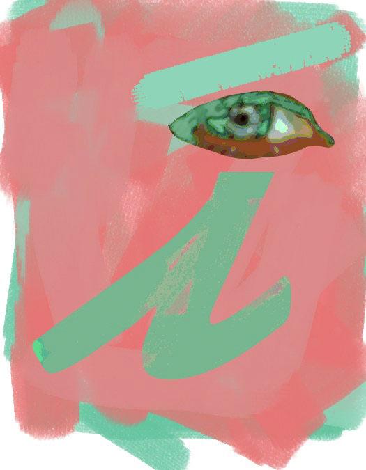 I/Eye, 1995  Digital Painting
