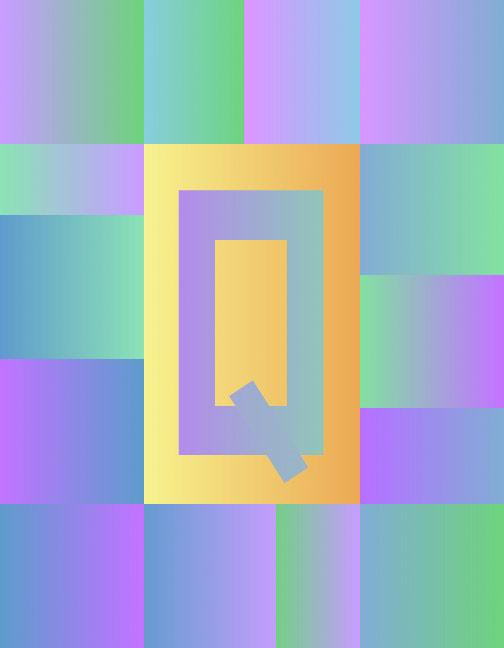 Q/Quardrate, 1998  Digital Painting