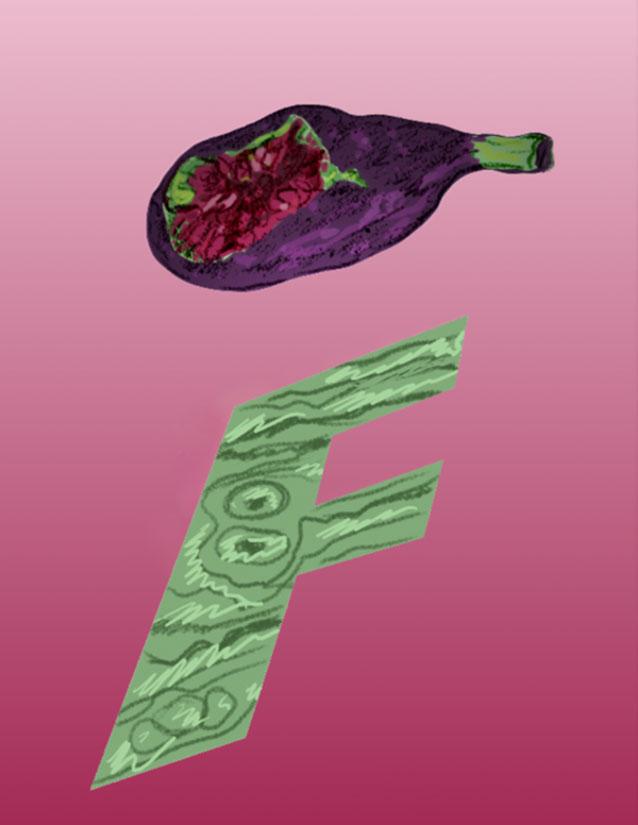 F/Fig Bite, 1993  Digital Painting