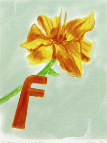 F/Flower, 1993  Digital Painting