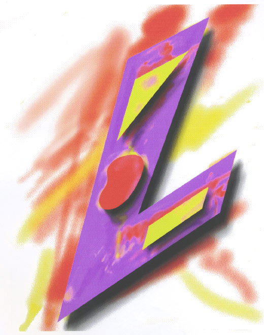 L/Abstract 1993  Digital Painting