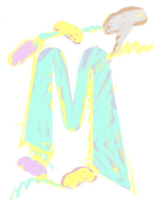 M/Mushrooms/Abstract, 1995  Digital Painting