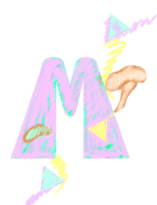 M/Mushrooms/Egyptian, 1995  Digital Painting