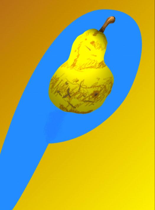P/Pear, 1997  Digital Painting