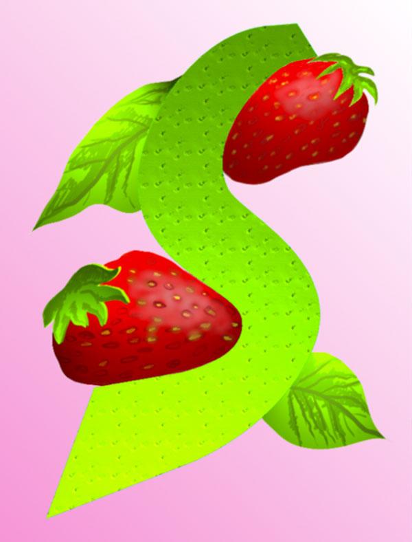S/Strawberry, 1998  Digital Painting