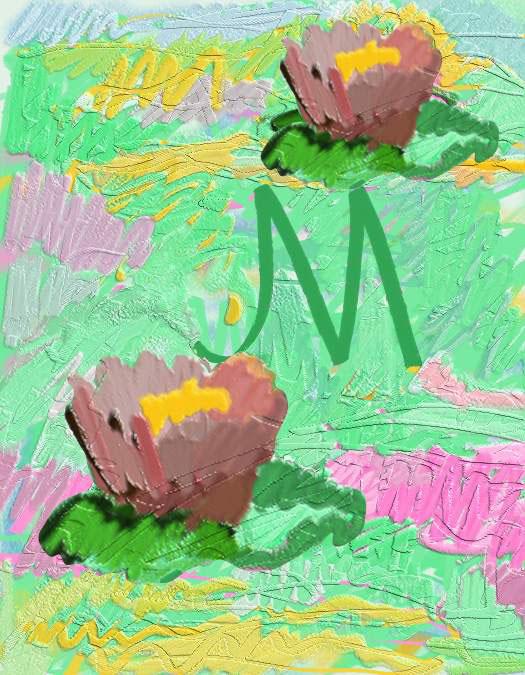 M/Monet Waterlilies,1995  Digital Painting