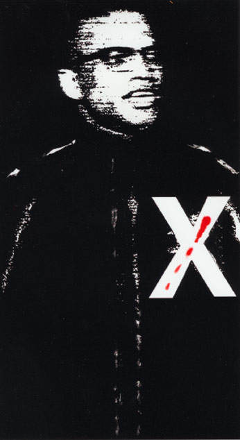 X/ Malcom X Red and Black, 1999  Digital Painting