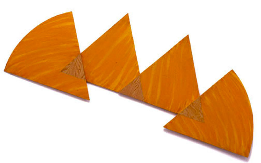 "Orange, Sequential Series, 1987  Acrylic Paint on Plywood  72""x20""x1"""